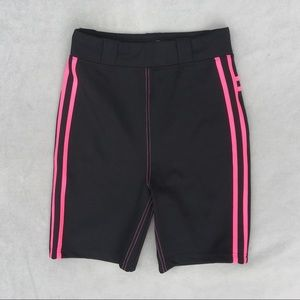 New I.AM.GIA Astrid Bike Shorts Black Pink Stripes
